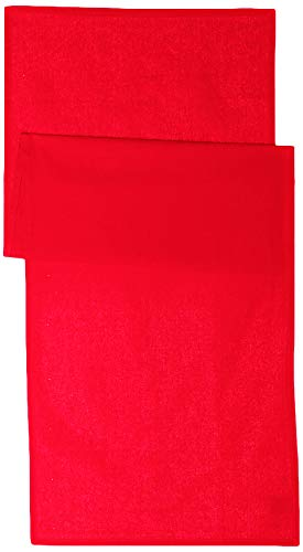 Today - 257551 - Chemin de table Coton - 50 x 150 cm - Rouge (Pomme d'amour/Rouge)