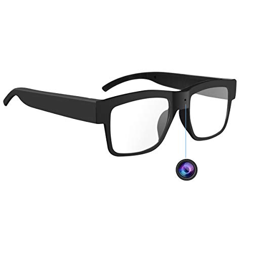 Camera Glasses 1080P,HD Mini Video Glasses - Eye Glasses with Camera Max 32GB Memory Card Wearable Camera(Without SD Card)