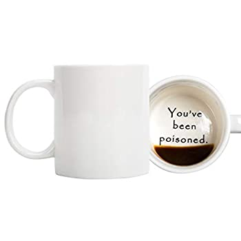 FLY SPRAY Funny Coffee Mug YOU VE BEEN POISONED Novelty Creativity Drink Cups Unique Joke Great Gag Gift Idea For Men Women
