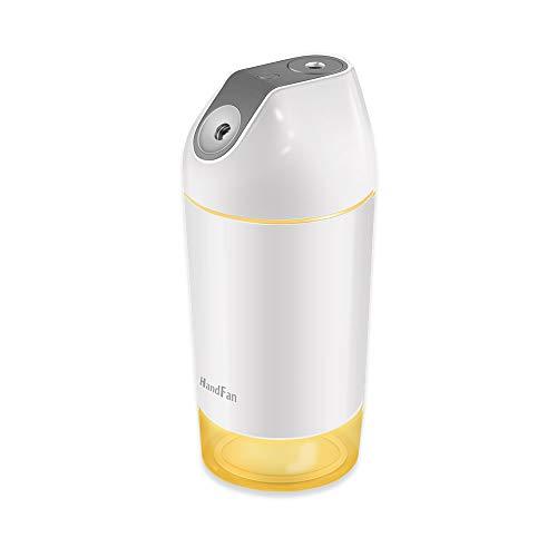 HandFan Humidificador USB Recargable 140 ml/h Humidificador portátil de 2600mAh Funciona con baterías con / 4 Modos de Niebla/luz Nocturna Apagado automático para la Oficina de Viajes