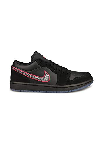Nike Air Jordan 1 Low SE, Zapatillas de básquetbol para Hombre, Black Black Red Orbit, 50.5 EU