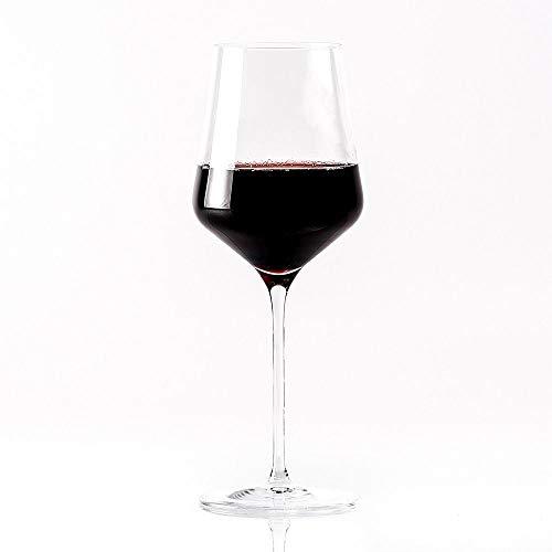 "Topkapi 250.477 - Rotweinglas ""Josephine"", bleifreies Kristallglas, Volumen 48 cl, Made in Germany, 6 Stück"