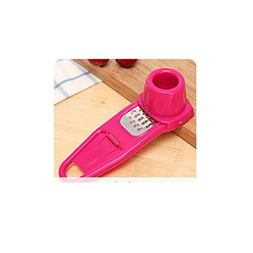 HXXB Peeler Accesorios del Color del Caramelo de plástico de Cocina Jengibre ajo Rectificado Herramientas de Silicona Peeler Slicer Shredder Planer Rallador (Color : Red)