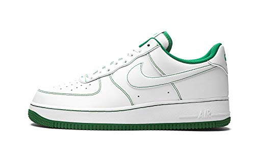 Nike Herren AIR Force 1 '07 Basketballschuh, White White Pine Green, 41 EU