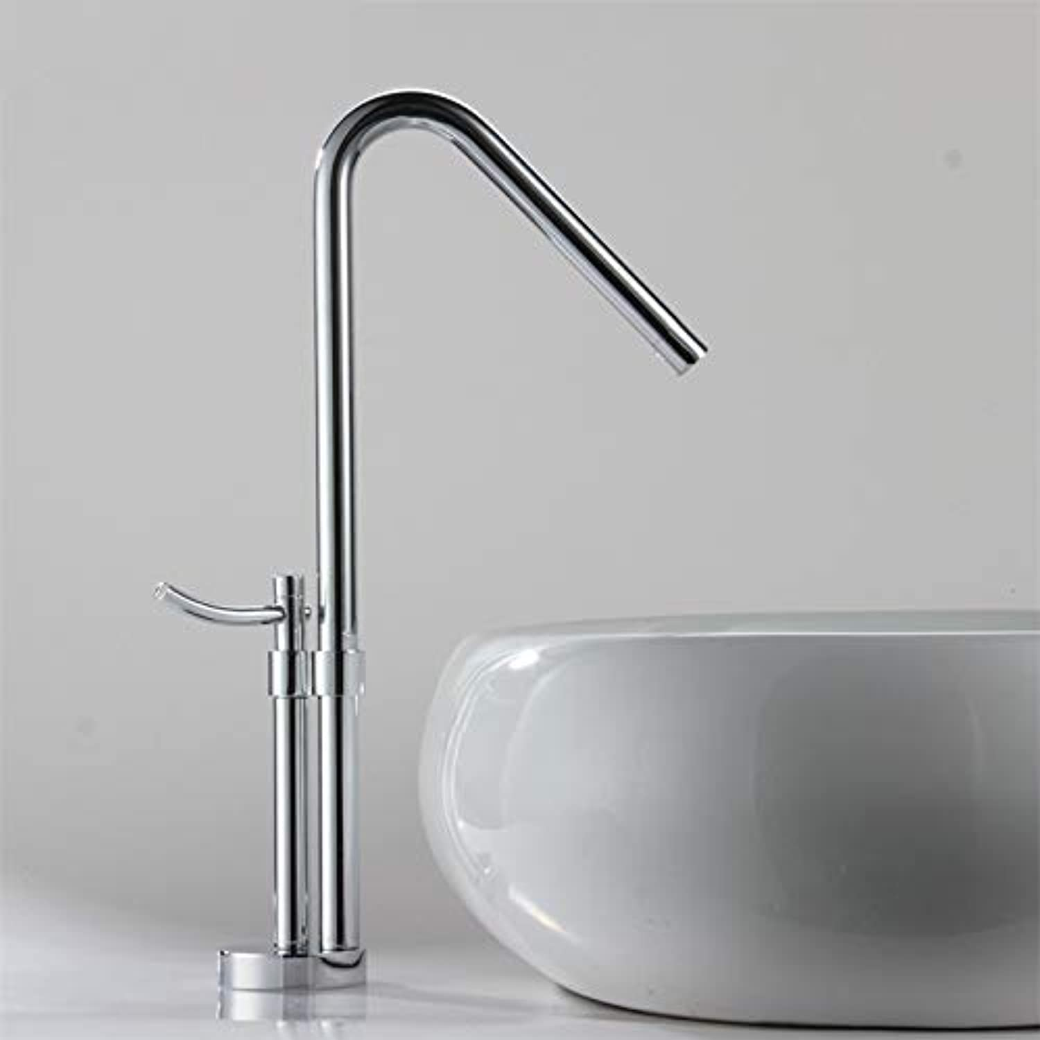 The Latest Modern Design Pure Copper Bathroom High Polished Sink Faucet