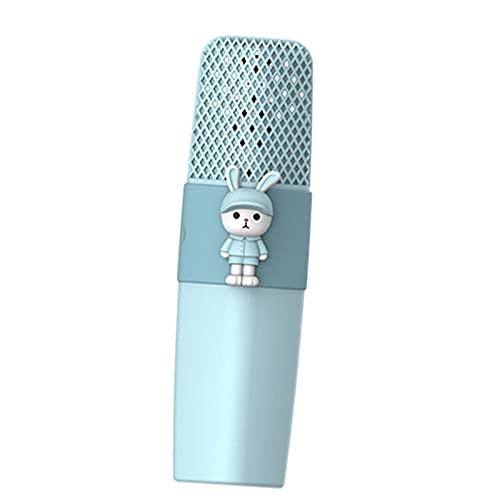 balikha Karaoke Micrófono inalámbrico Sonido HD Batería de Larga duración Reproductor KTV portátil de Mano para niños Fiesta en casa Cumpleaños Compatible con - Conejo Azul