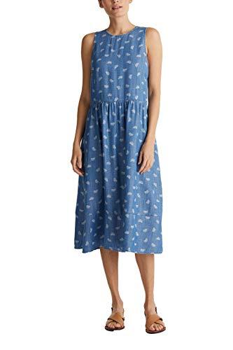 edc by Esprit 040cc1e336 Vestido, 903/Blue Light Wash, M para Mujer