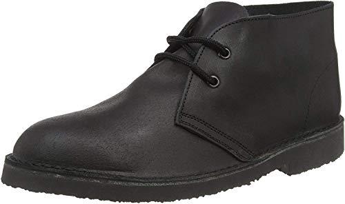 Roamers Dara Unisex Leder Gepolsterte Wüstenstiefel / Dessert Boots mit Ferse, braun, braun - Brown Distressed Leather - Größe: 42 2/3 EU