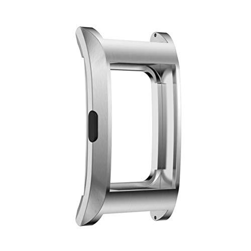 UKCOCO Compatibile con Fitbit Charge 2 Cover Protettiva per scocca in Metallo Antiurto