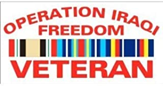 Operation Iraqi Freedom Campaign Ribbon Veteran - Window Decal Sticker
