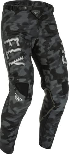 Fly Racing 2022 S.E. Kinetic Tactic Pants (Grey/Black Camo, 30)