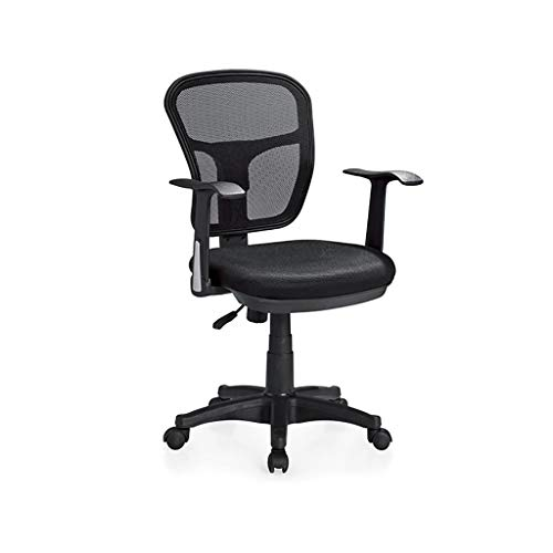 Chair Office Chair Desk Chair Black Ergonomic Swivel Mesh Task Chair High Back Padded Desk Chair,Office Swivel Desk Chair with Torsion Control,3 Colors (Color : Black)