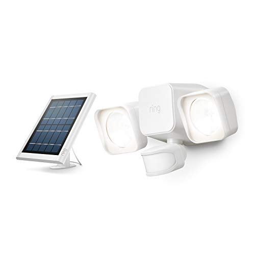 Introducing Ring Solar Floodlight – Outdoor Motion-Sensor Security Light, White (Ring Bridge required)