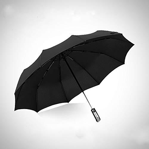 YYouRuiNew Creative Black Plastic Umbrella Automatic Umbrella Can be Customized Folding Automatic Umbrella Business Umbrella
