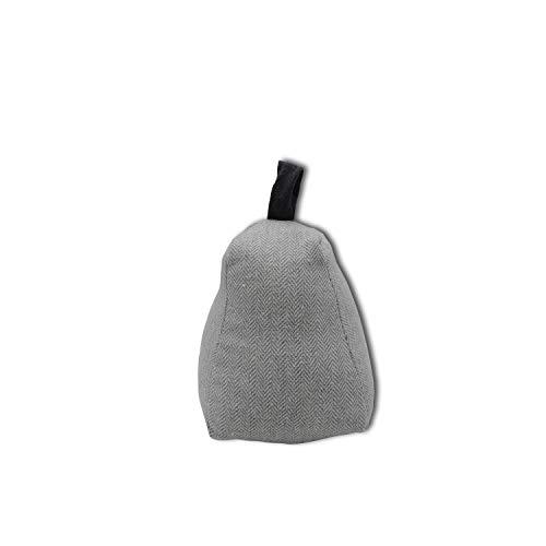 koko doormats Sujetapuertas Decorativo de Poliéster con Forma de Saco | Tope para Puerta Retenedor Decorativo de 1 kg, Color Gris Claro