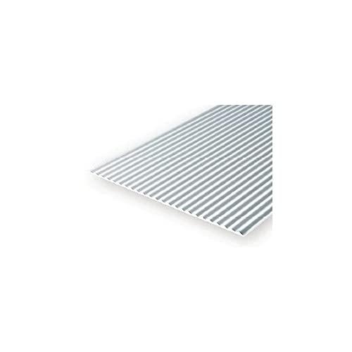 evergreen Chapa ondulada 4528, 1 x 150 x 300 mm, cuadrícula de 2 mm, 1 pieza