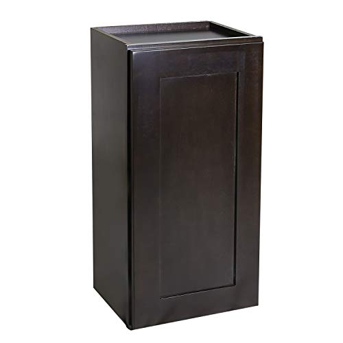 Design House Brookings Shaker Tall Wall Kitchen Cabinet, Espresso, 9 x 36, Unassembled/RTA -  586487