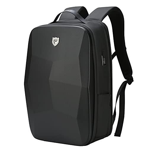 FENRUIEN Laptoptasche Laptop Rucksack Schwarz 25L Wasserdicht Backpack mit USB-Ladeanschluss Anti Diebstahl Daypack mit Laptopfach für Schule/Reisen/Arbeit Geburtstagsgeschenke