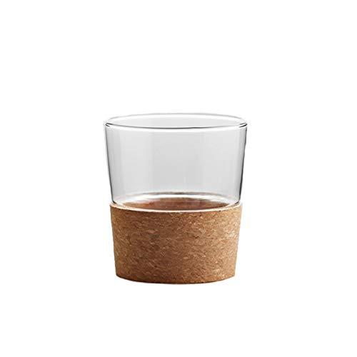QAX Jarra para Agua Grande con Corcho Tapa,Garrafa,para Leche Zumo té Helado Limonada y Bebidas Chispeantes,Transparent Cup