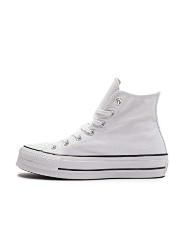 Converse Chuck Taylor All Star Lift - Hi - Blanco/Negro/Blanco Canvas