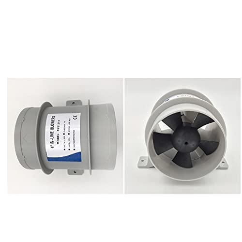 BUSUANZ Ventilador silencioso Marino de 2 Piezas de 12 V Resistente al Agua de Alto Flujo de Aire - 4 Pulgadas