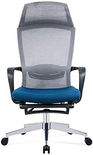 Silla ergonómica de ordenador con trípode para el hogar, silla giratoria de malla, gris, negro, color: gris (color: negro) sillón (color: gris)