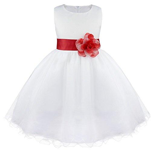 inhzoy Vestido de Princesa Bebé Niña Vestido de Fiesta Bautizo Dama de...