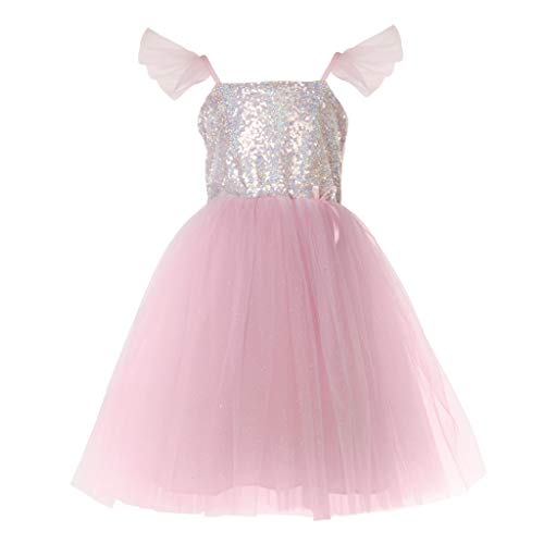 Great Pretenders 32365, Sequins Princess Dress, Silver, US Size 5-6