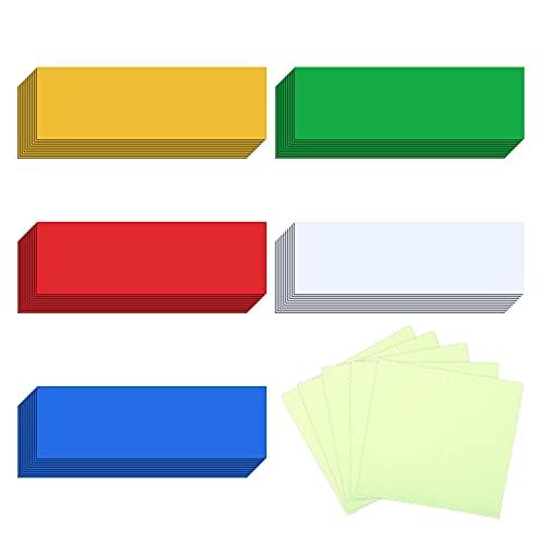 LOPOTIN 100PCS Etiqueta Magnética, Pegatina Imatada, Iman Pizarra Oficina, Nota Nevera, Placas Imán para Presentación Trabajo Empresa Escuela Clase Universidad Hogar Multicolor Reutilizable Borrable.