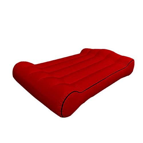 Sofá de aire hinchable, bolsillo al aire libre, sofá inflable, cama de almuerzo, silla de camping, vino rojo, 190 x 110 x 35 cm