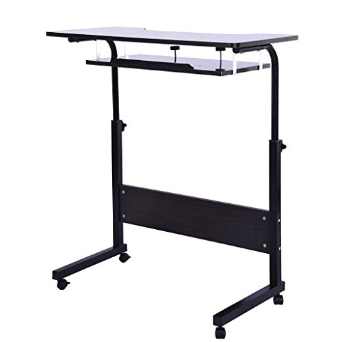 Computer Desk, Height Adjustable Desk Sit Stand Table Can Be Raised and Lowered Mobile Desktop Desk Stand Up Desk Workstation for Home Office - Us Shippment (Black)