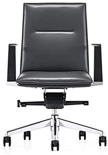 Silla de Oficina Giratoria Ergonómica, Silla del Director de Calidad, elevable giratoria Silla de Oficina, Silla de la computadora (Color : Black)