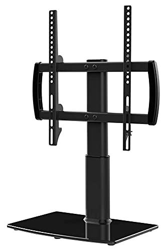 TabloKanvas Soporte Universal de TV/Soporte de TV de Mesa con Soporte de Pared para una Base de Vidrio Templado de 27 a 55 Pulgadas de 4 Niveles (Color : Black)