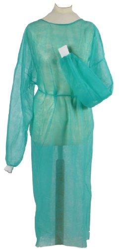 Lot de 100 blouses de protection jetables en textile non tissé avec poignets resserrés pour visiteurs Dimensions : 130 x 160 cm Qualité professionnelle