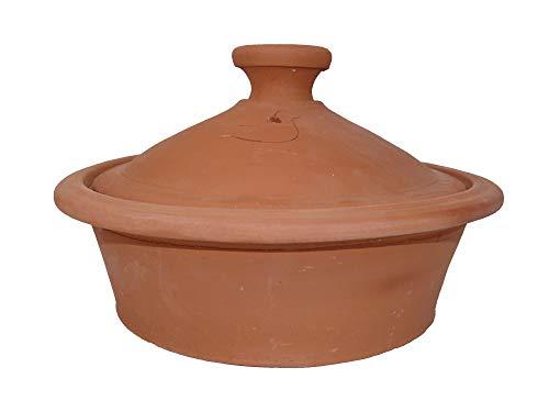 Marokkanische Tajine Topf zum Kochen unglasiert Ø 35 cm für 3-5 Personen tief - 905793-0003