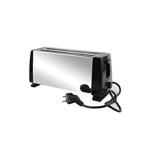1 Pcs 4 Slices Home Toaster Multi-Function Breakfast Machine Toaster Toast Sandwich Toaster Equipment, abnehmbare Krümelschublade, Schwarz