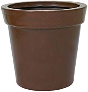 Supremo Eco Friendly Polyethylene Brown Round Pot/Planters (W-26 x H-24 Inches)