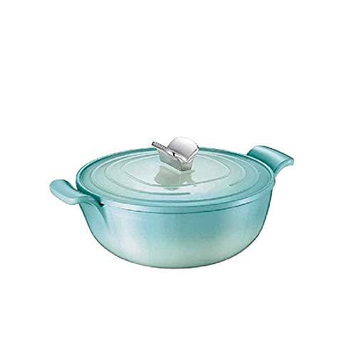 YAMMY Olla Caliente Mejorada, Olla rápida de Fideos, Huevo, arroz Frito, Ramen, Avena, Sopa con Control de Temperatura, Verde (Olla Caliente)