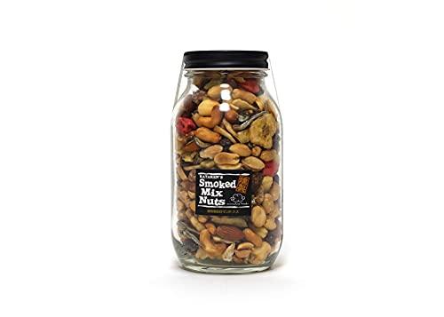 munchie foods(マンチーフーズ) MFSNB スモークミックスナッツ ボトル Smoked Mix Nuts in Bottle ラージボトル(480g)ブラック