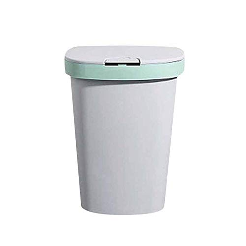 Cttiuliljt Trash Can Flip Bin Haushalt Papierkorb Automatische Tasche nehmen Trash Can Home Bad Küche Storage Trash Can Refuse (Color : Green)