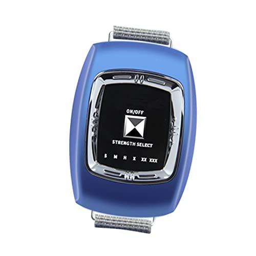 GJXJY Anti Snore Bracelet, Anti ronquidos Pulsera, 3 Modos y 6 Engranaje Ajustable, Muñequera Antirronquidos Dispositivos, USB Recargable Reloj Antirronquidos para Mujeres Y HombresBlue