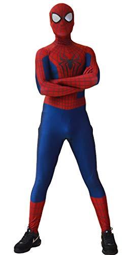 Ourworth The Amazing Spider 2 Kostüm Amazing Spider 2 Anzug für Kinder und Erwachsene, Halloween-Kostüm (Größe L)