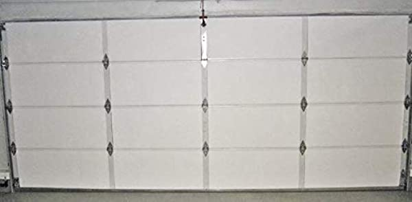 NASA TECH White Reflective Foam Core 2 Car Garage Door Insulation Kit 18FT Wide X 8FT HIGH R Value 8 0 Made In USA New And Improved Heavy Duty Double Sided Tape Also FITS 18X7