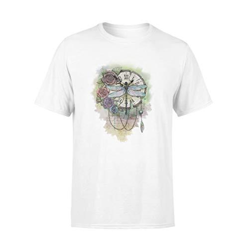 AMIROSSI Camiseta con diseño de libélula en el reloj