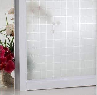 LMKJ Película Adhesiva electrostática esmerilada diseño de Cortina de protección Solar Transparente baño privacidad Etiqueta de la Ventana decoración del hogar película A28 60x100cm