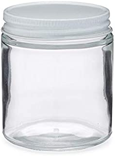4 oz Clear Glass Straight Sided Jar (Metal Cap) Case 24 by Berlin Packaging