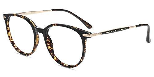 Firmoo Blaulicht Brille Entspiegelt ohne Sehstärke Damen Leopard, Blaulichtfilter Computerbrille Herren gegen Kopfschmerzen, Blaulicht Gaming Brille UV-Schutz für Bildschirme