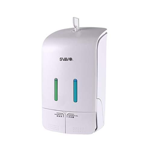 Zeep Thuis Badkamer muur Opknoping Punch-gratis Dubbele Hoofd Dispenser Shampoo Douchegel Doos