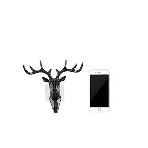 3 Deer Head Cornamenta Ganchos Estantes de pared Colgantes d