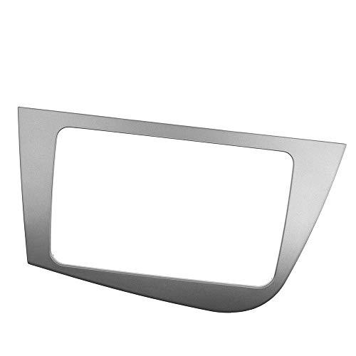 AIOFOGXC 2 DIN Car Radio Estéreo Marco de Montaje de Pantalla de DVD GPS Fascia/for los Seat Leon 2005-2012 Instalación Dash Bisel Juego de Acabados (Color : Black)